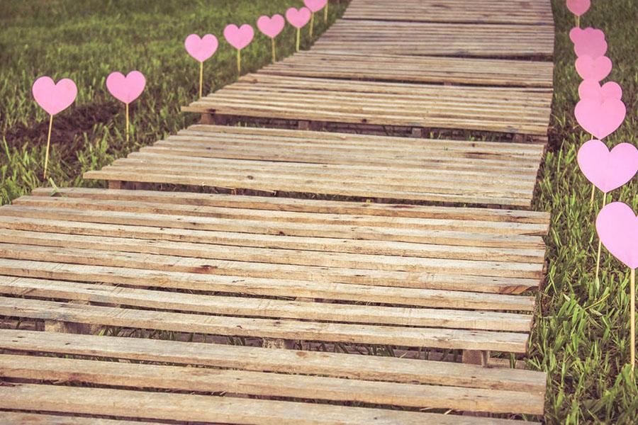 chronique mariage champetre chemin de bois