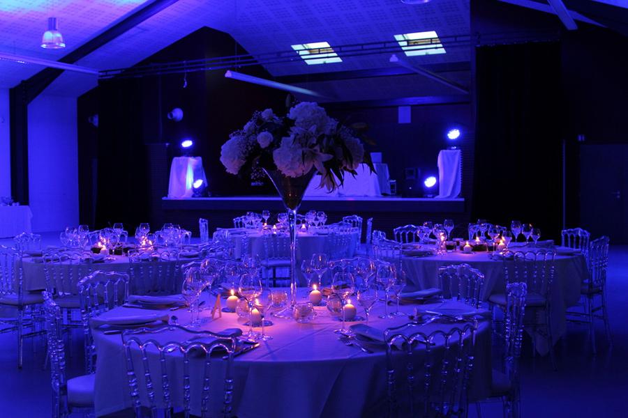 déco mariage thème lumières bleu Déco Ré Majeur décoratrice partenaire lyon-mariage.com