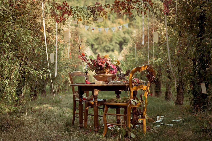 Seance_octobre_2017_emilie_garcin_01- décoration champêtre bouqet de fleurs rose et rouge dans un champ