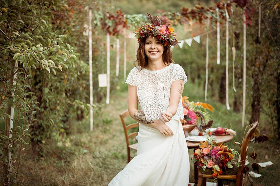 Seance_octobre_2017_emilie_garcin_52 mariée couronne de fleurs champêtre et bucolique