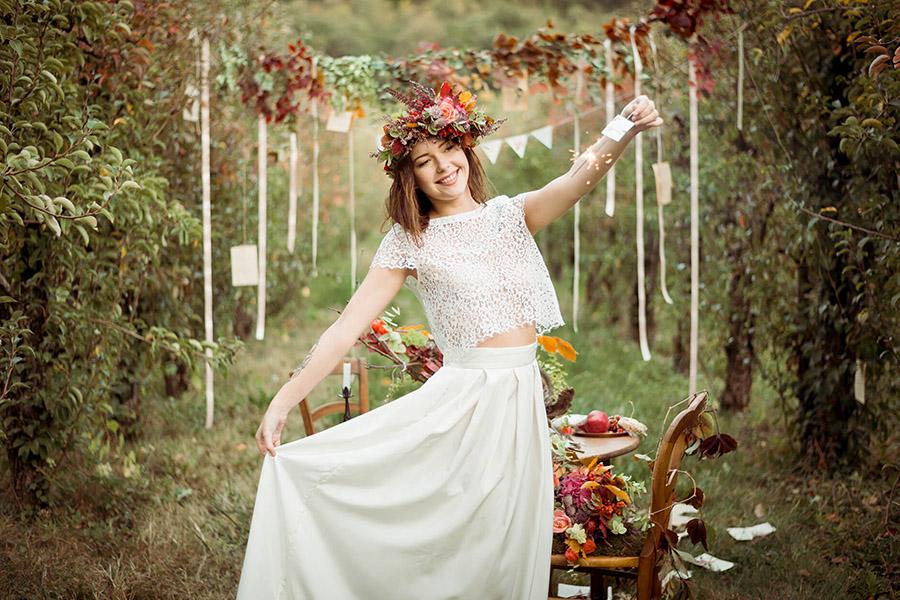 Seance_octobre_2017_emilie_garcin_52 mariée couronne de fleurs champêtre et bucolique tatouage