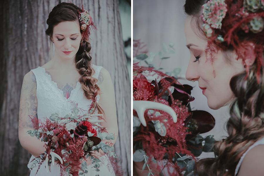 chronique-coiffure-automne-amelie-gouttenoire-fleurs-rouge-taouage-lyon-mariage tendance coiffure mariage d'hiver