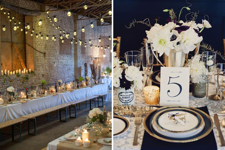 Chronique lyon mariage 31 décembre - decoration champetre or