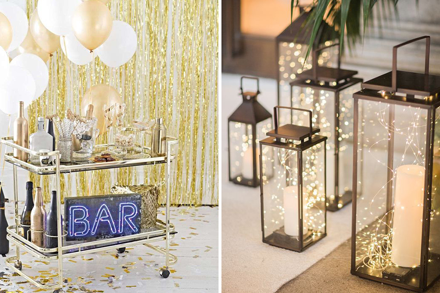 Chronique mariage 31 décembre à Lyon bar à boissons et bougies