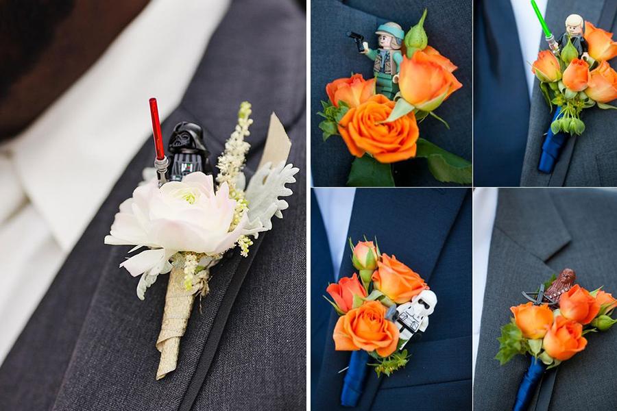 Chronique idées pour un thème mariage Star Wars - fleurs et lego