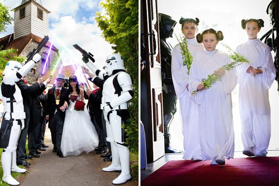 Chronique idées pour un thème mariage Star Wars - cortège et enfants