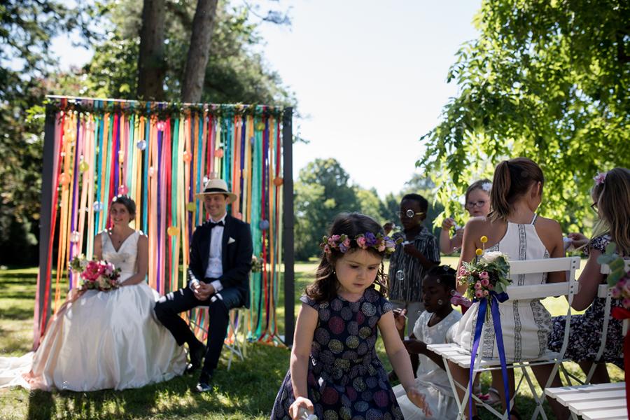 Wedding Planner à Lyon Lyloo et Maloé, cérémonie bulle
