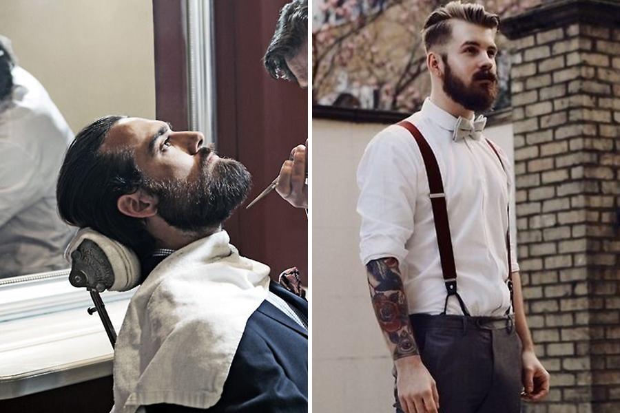 Chronique conseils barbe pour les mariés, chemise blanche et barbier