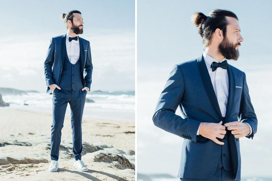 Chronique conseils barbe pour les mariés, chemise blanche à la plage