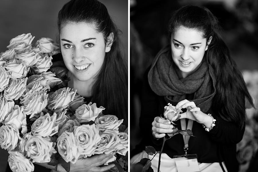 Fleuriste mariage Lyon Atelier Charlotte bouquet de fleurs en noir et blanc