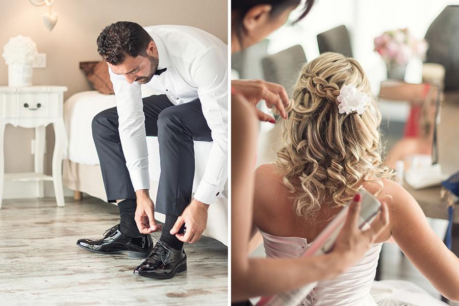 Mon joli jour wedding planner - shooting photo préparation des mariés