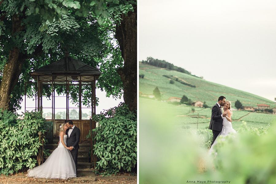 Mon joli jour wedding planner - shooting photo des mariés dans un champs