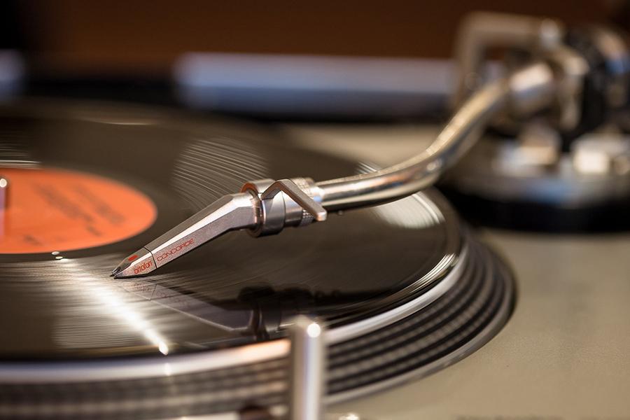 DJ Animation key des artistes bar à vinyles platine disque