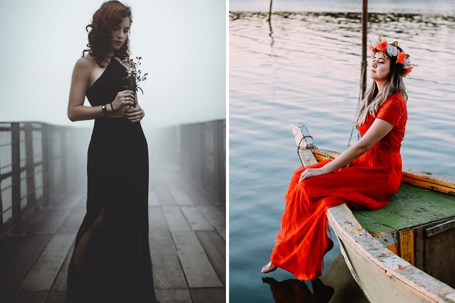 Chronique 8 conseils pour une tenue d'invitée mariage à lyon, robe longue rouge et noire
