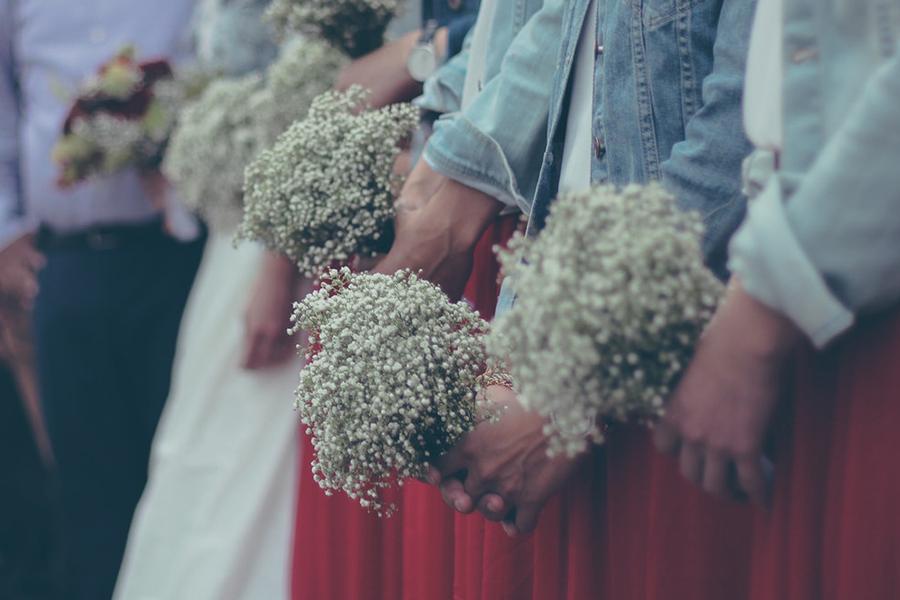 chronique demoiselle d'honneur lyon mariage robe rouge