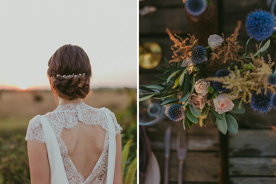 Maquilleuse et coiffeuse beauty art coiffure lyon mariage décoration fleurie plage chignon bas