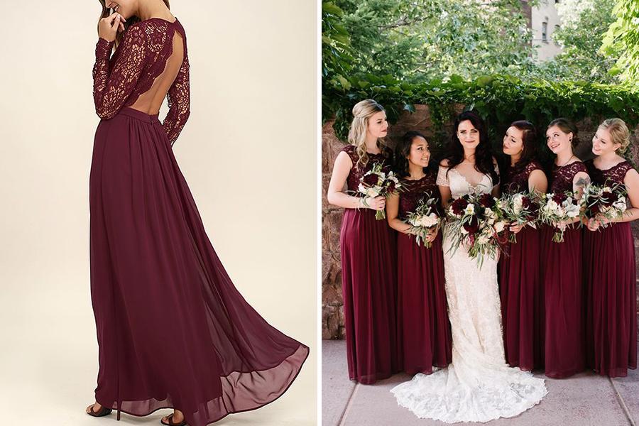 Chronique lyon mariage dress code bordeaux robe moulante tulle et longue robe