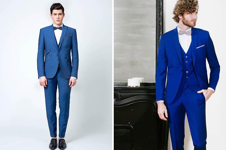 Chronique samson costume idée choisir son costume bleu foncé noeud papillon noir