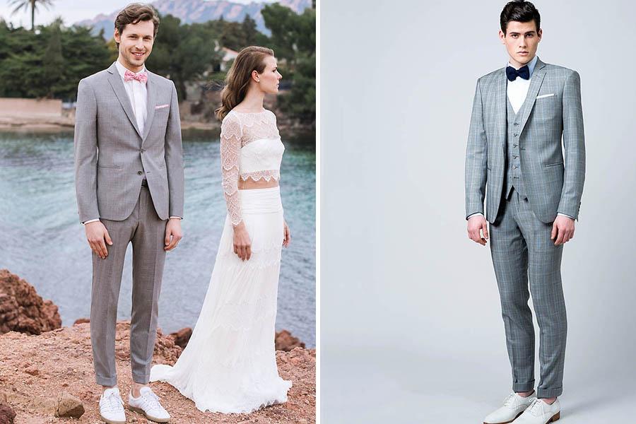 Chronique samson costume idée choisir son costume gris clair et rose