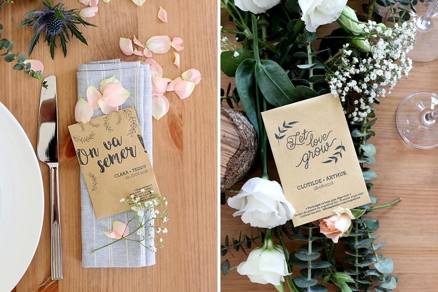 la fabrique à sachets cadeaux d'invités lyon mariage décoration plan de table