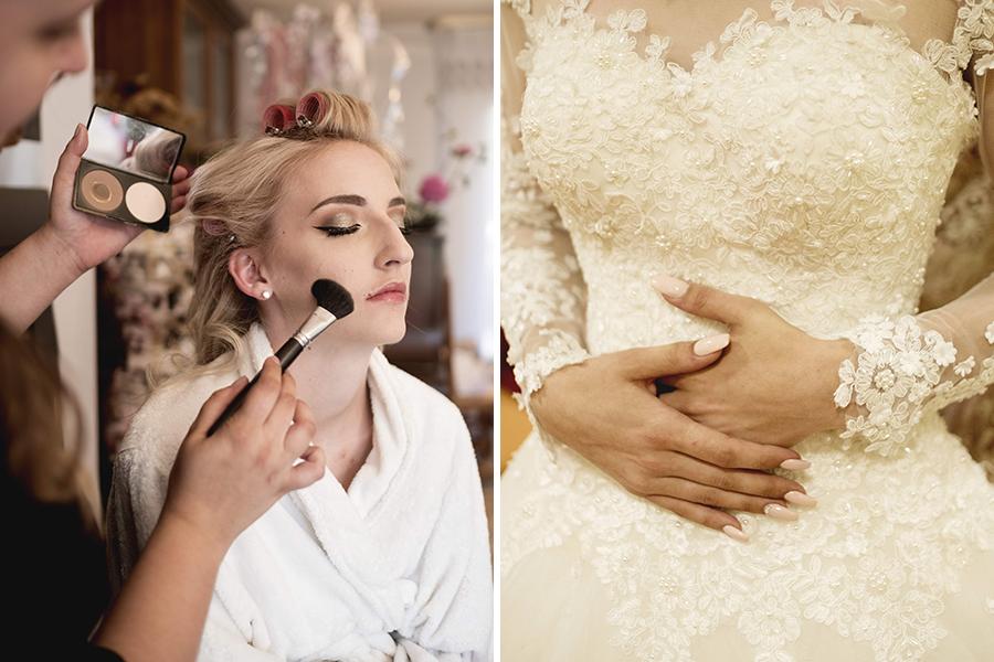 Maquillage coiffure mariage auréa jeanneau lyon mariage préparation de la mariée et vernis