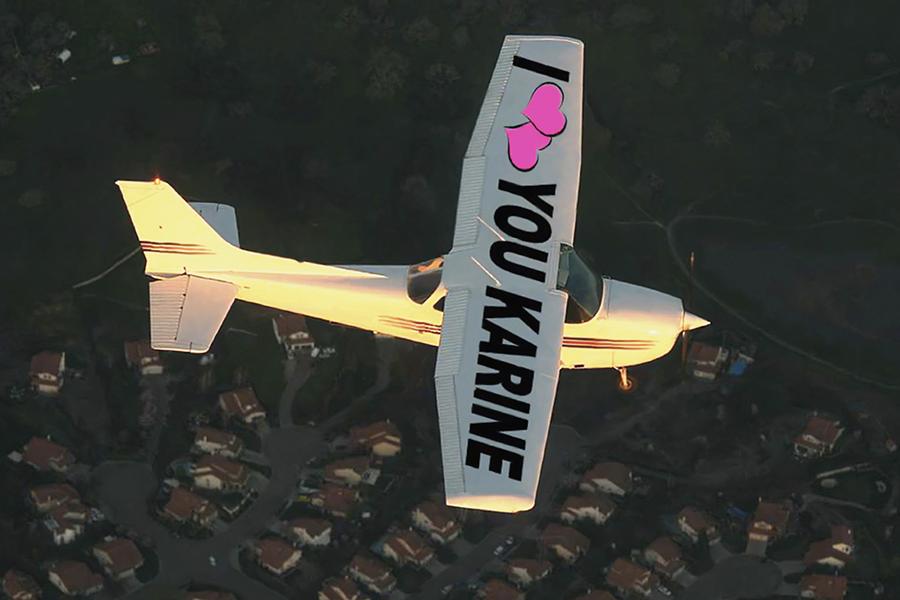 Apoteo Suprise demande en mariage x lyon mariage originales avion