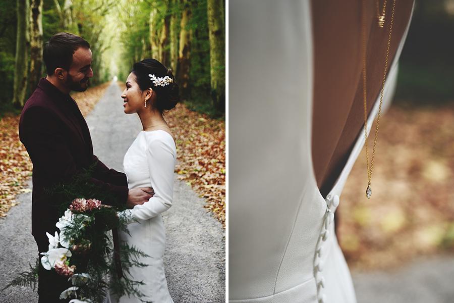 Créatrice de robes de mariée Maryline Garel shooting détails robe de mariée