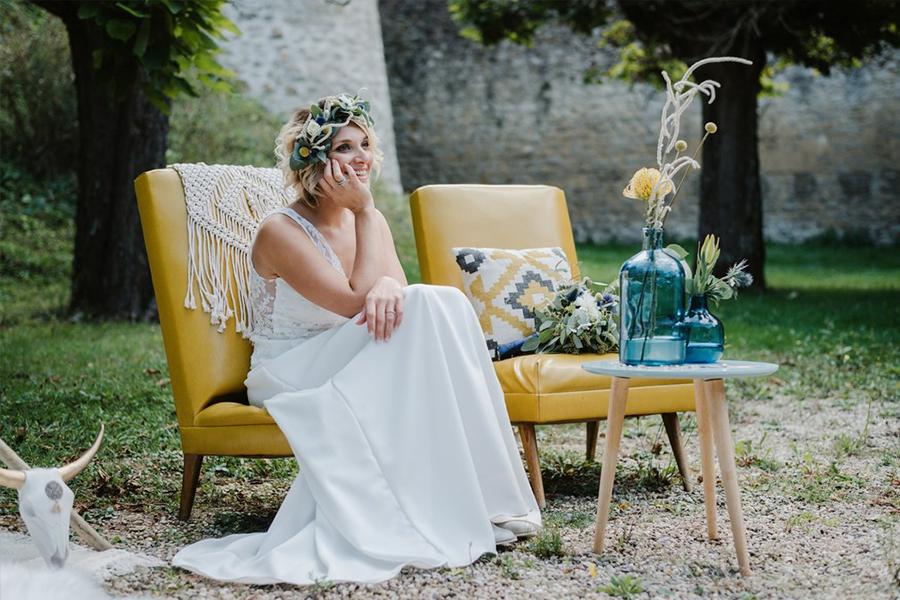 Fleuriste lyon mariage Art végétal inspiration folk décoration composition florale