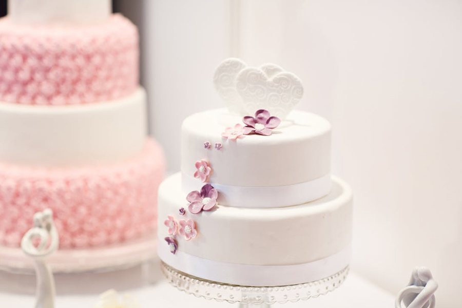 chronique wedding cake lyon mariage rose coeur