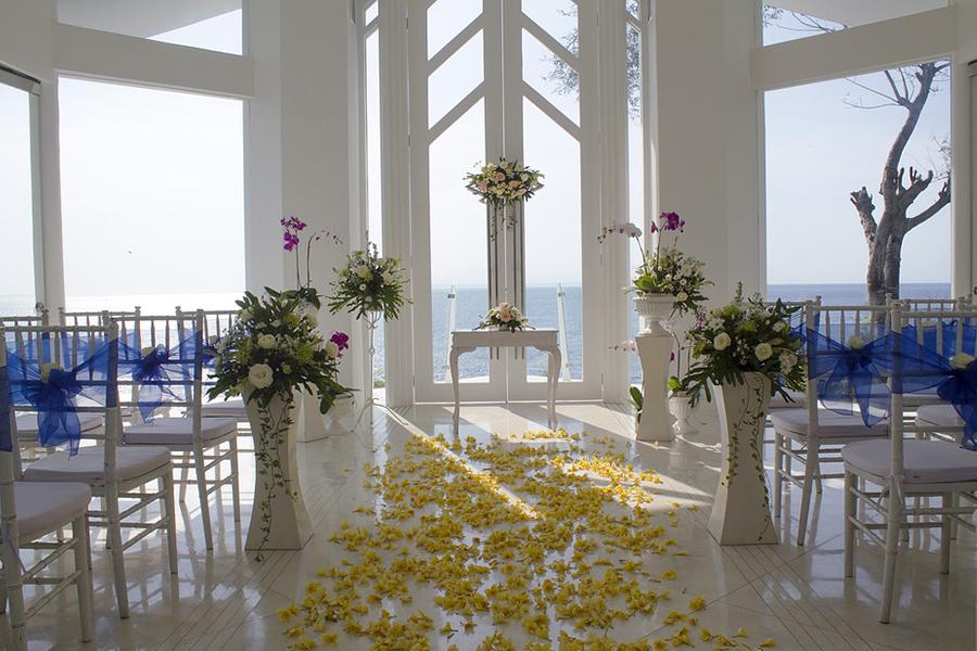 chronique générique lyon mariage choisir sa salle de mariage - décoration cérémonie pétale jaune