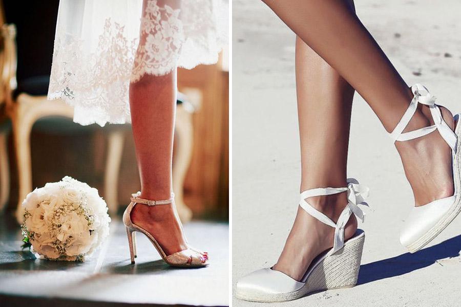 chaussure de mariage romantique