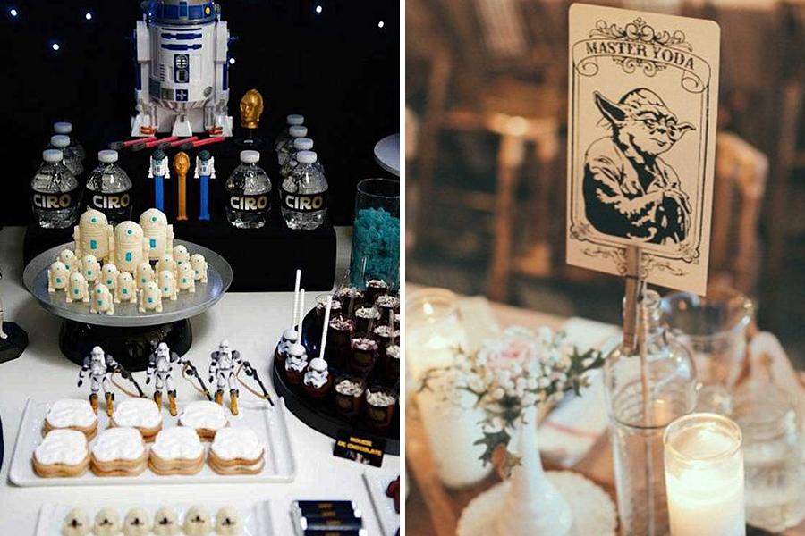 Chronique idées pour un thème mariage Star Wars - buffet et décoration yoda