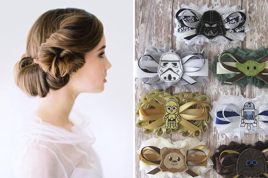 Chronique idées pour un thème mariage Star Wars -coiffure et jarretière