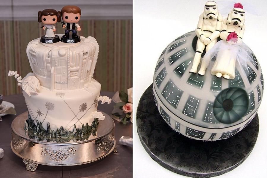 Chronique idées pour un thème mariage Star Wars - gâteaux de mariage l'étoile de la mort