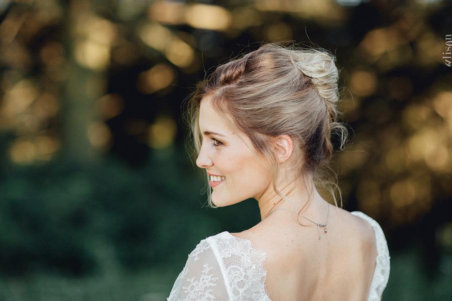 Chronique coiffure et maquillage beauty art coiffure lyon mariage blonde chignon serré