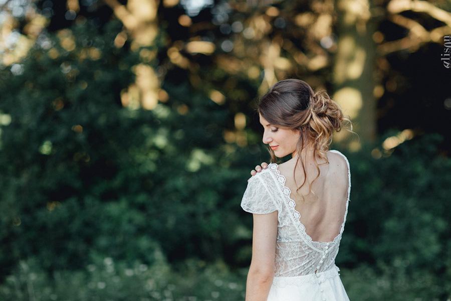 Chronique coiffure et maquillage beauty art coiffure lyon mariage brune chignon flou