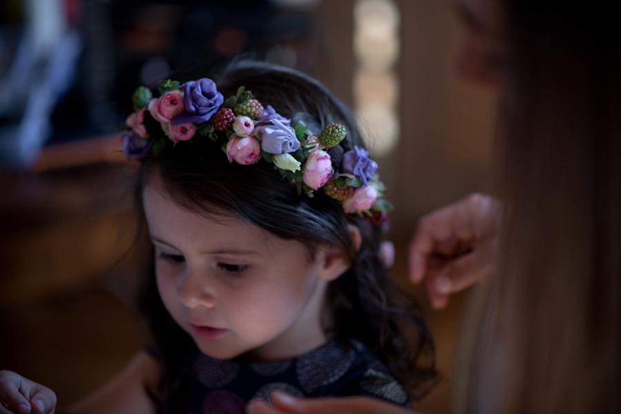 Wedding Planner à Lyon Lyloo et Maloé, couronne de fleurs enfants du cortège