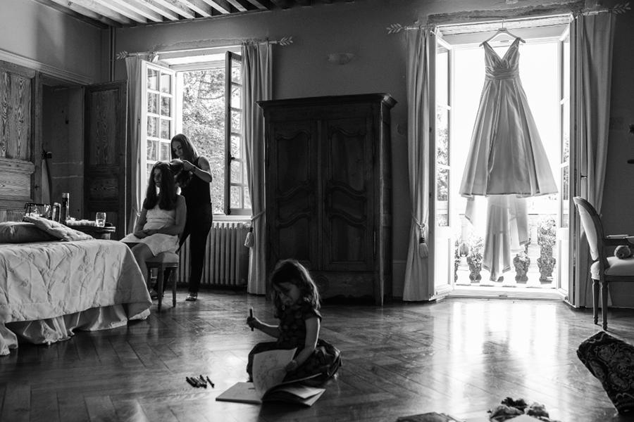 Wedding Planner à Lyon Lyloo et Maloé, préparation de la mariée coiffure et maquillage