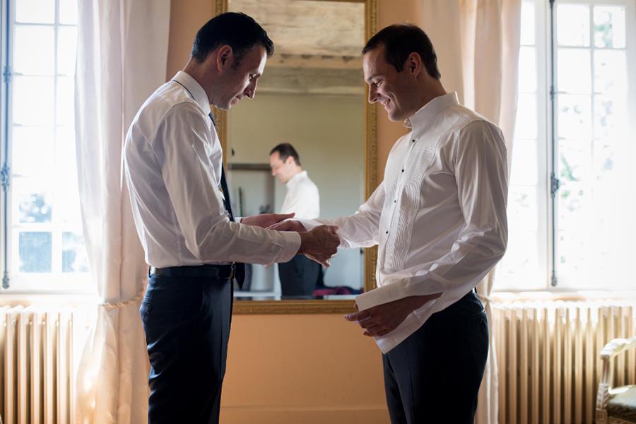 Wedding Planner à Lyon Lyloo et Maloé, préparation du marié