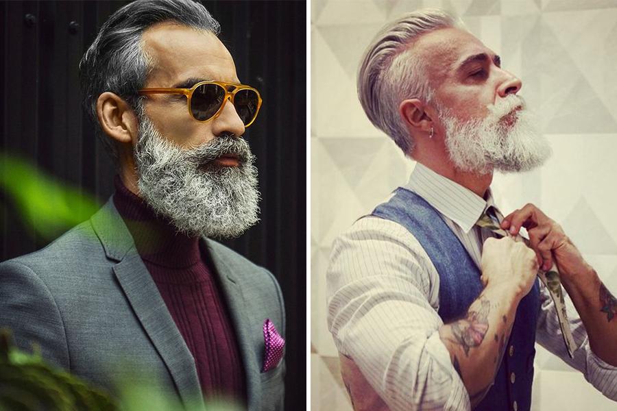 Chronique conseils barbe pour les mariés, barbe blanche et cheveux blanc