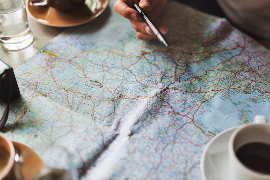 Chronique voyage de noce - carte du monde
