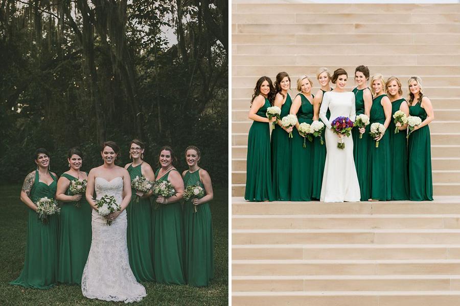 Chronique dress code vert demoiselles d'honneur vert