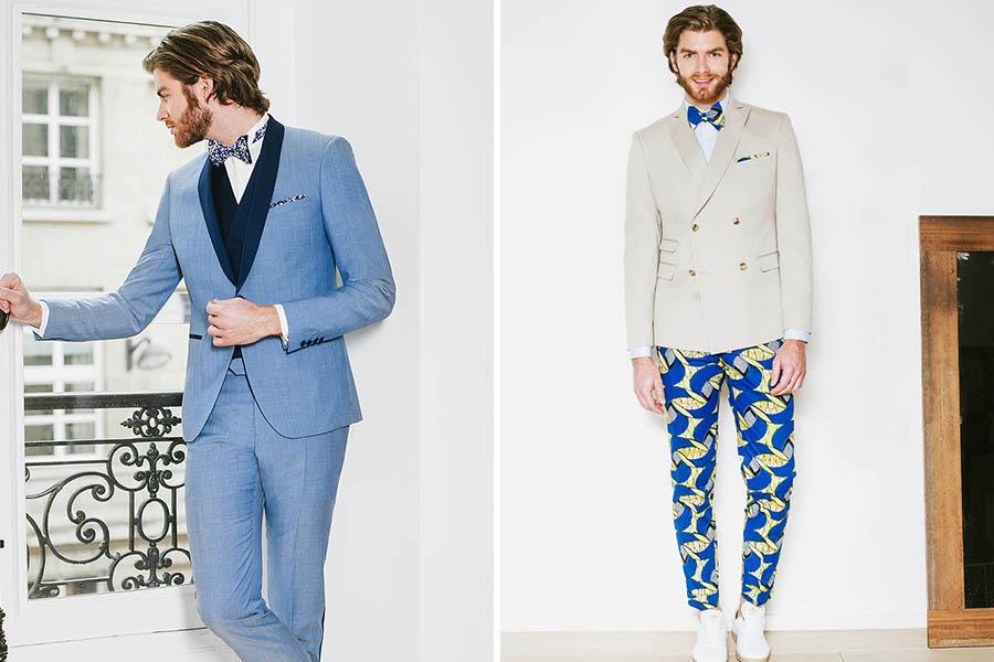 Chronique samson costume idée choisir son costume bleu clair et beige