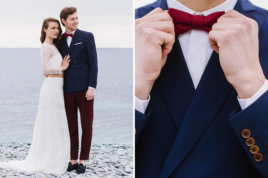 Chronique samson costume idée choisir son costume bleu foncé noeud papillon rouge