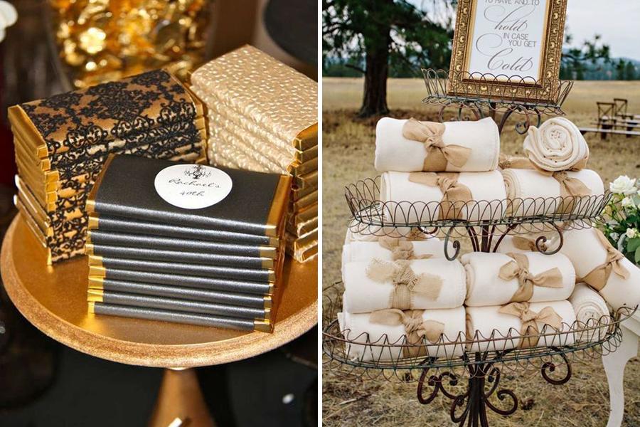 Lyon Mariage tablettes de chocolat et couverture blanche
