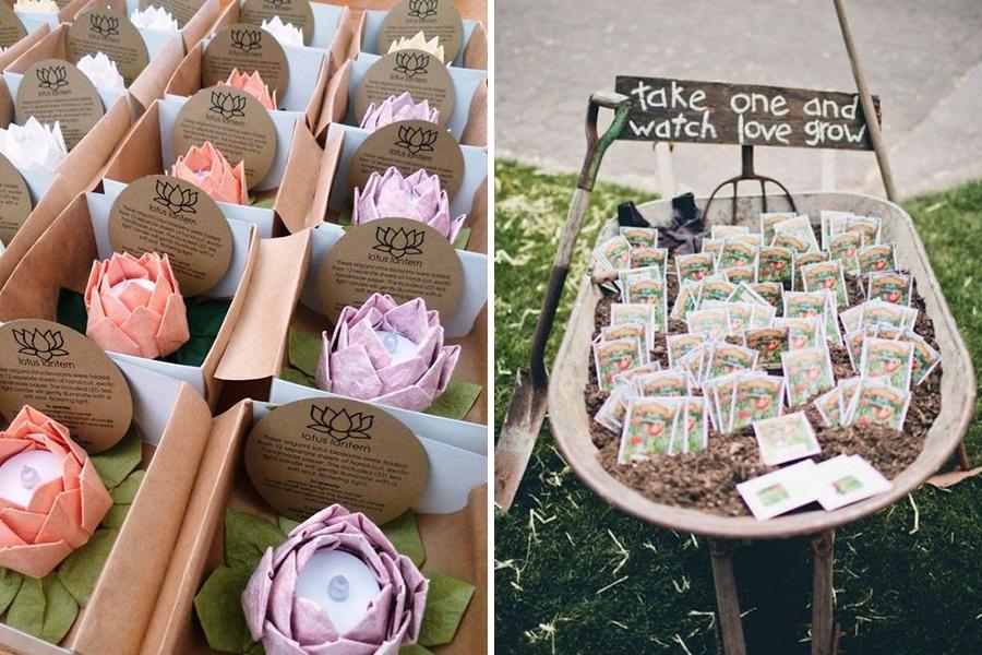 Lyon Mariage lanterne en papier et plantes