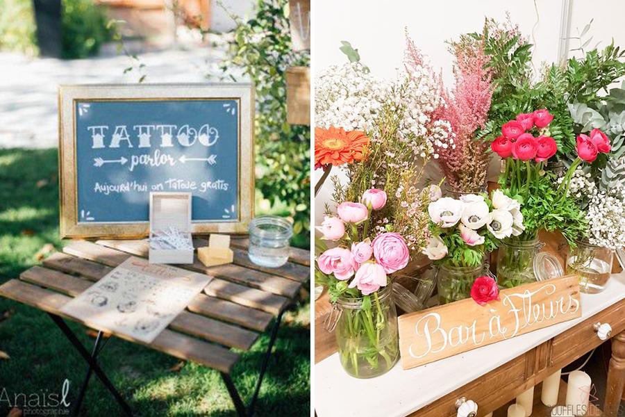 Chronique Bars trendy Lyon mariage bar à tatouages et fleurs