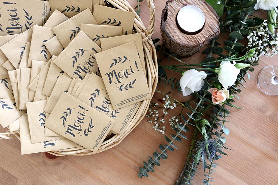 la fabrique à sachets cadeaux d'invités lyon mariage décoration plan de table sachets