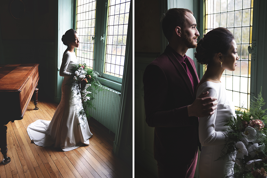 Créatrice de robes de mariée Maryline Garel bijoux costume et robe sur mesure